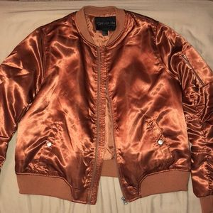forever 21 copper bomber jacket